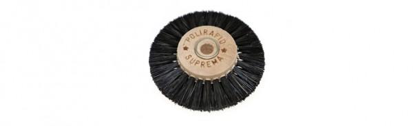 Polirapid-Bürsten, Suprema-Rundbürste mit extra steifen Chungking-Borsten und Holzkern, 3-reihig