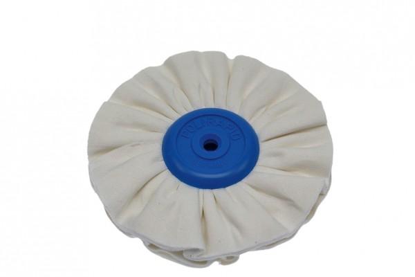 Polirapid-Schwabbel, mit konischem Kunststoffkern + plissiertem Baumwollstoff