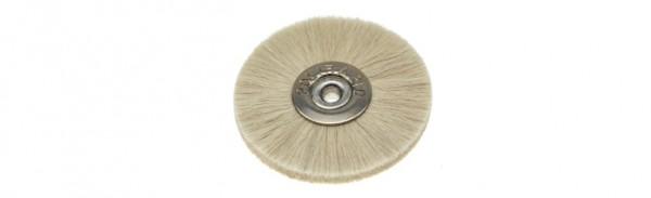 Polirapid-Bürsten, Schmalbürste mit konischem Aluminiumkern und weißem Ziegenhaar