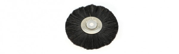 Polirapid-Bürsten, Schmalbürsten mit konischem Aluminiumkern und schwarzen Chungking-Borsten